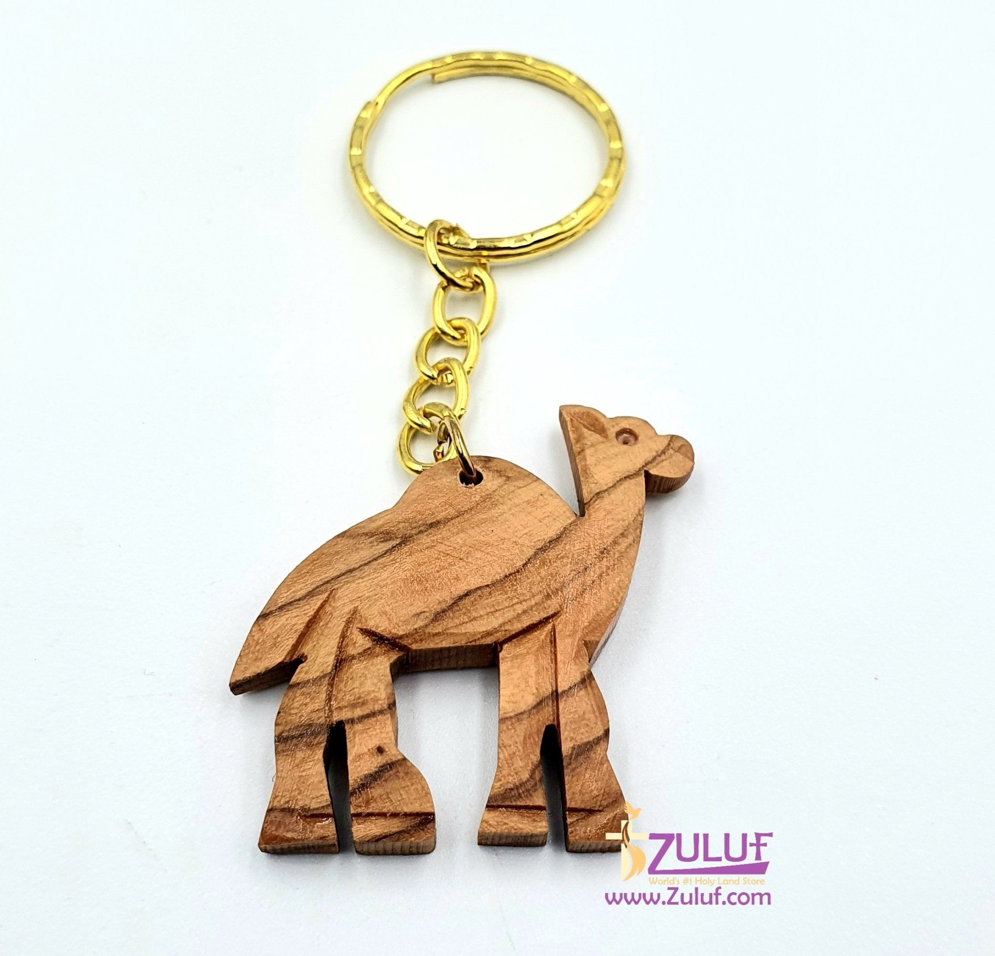 Olive wood hand made camel KC211 - Zuluf