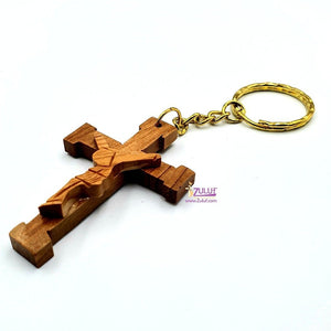 Olive wood hand made cross crusficsion KC207 - Zuluf