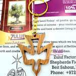 Olive wood hand made dove Keychain KC215 - Zuluf