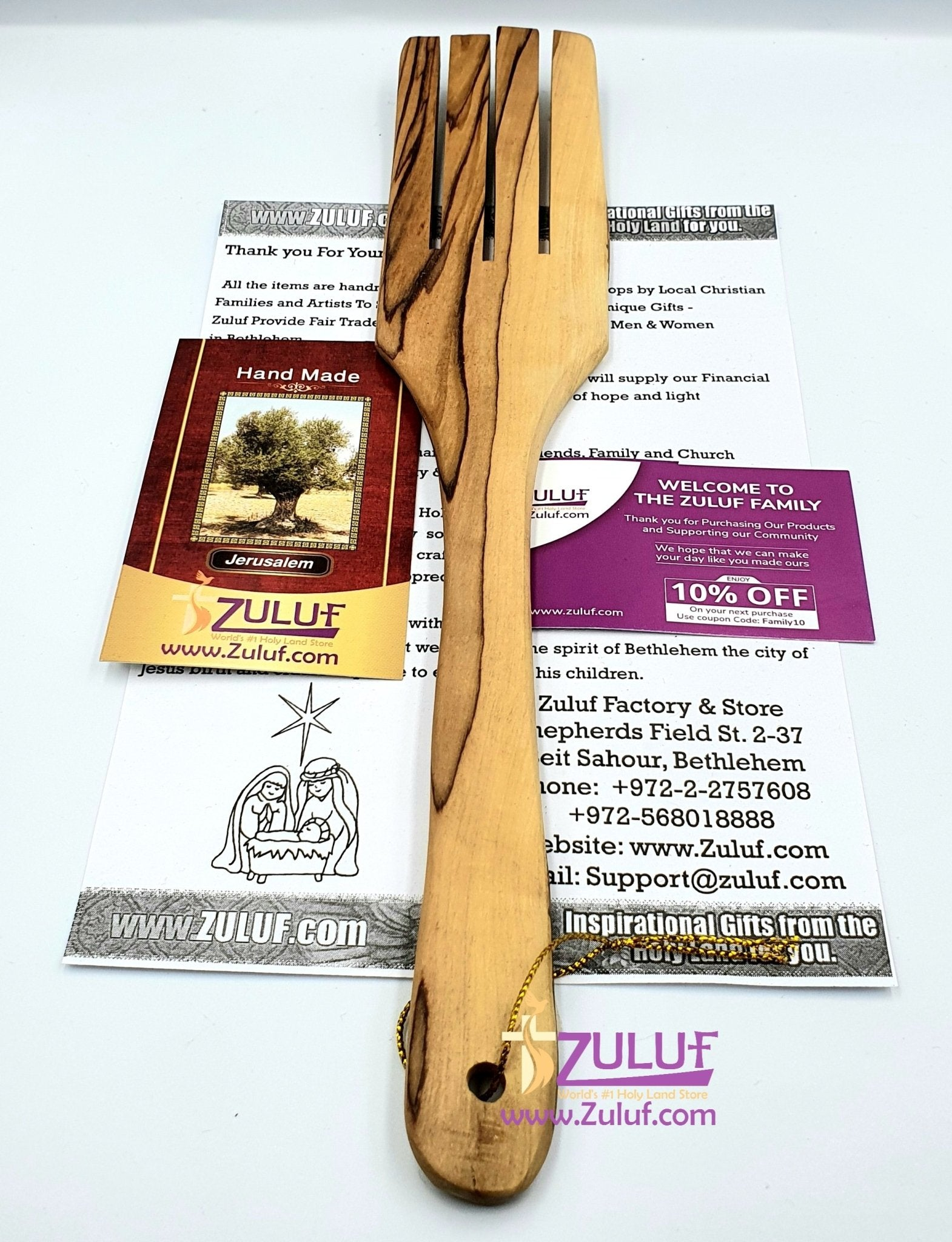 Olive wood hand made forg KIT004 - Zuluf