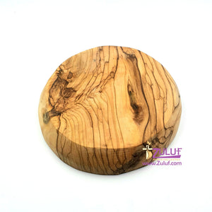 Olive wood hand made garved plate 014 - Zuluf