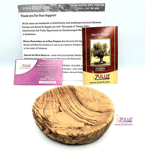 Olive wood hand made garved plate KIT015 - Zuluf