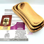 Olive wood hand made garved Rectangular bowl KIT016 - Zuluf