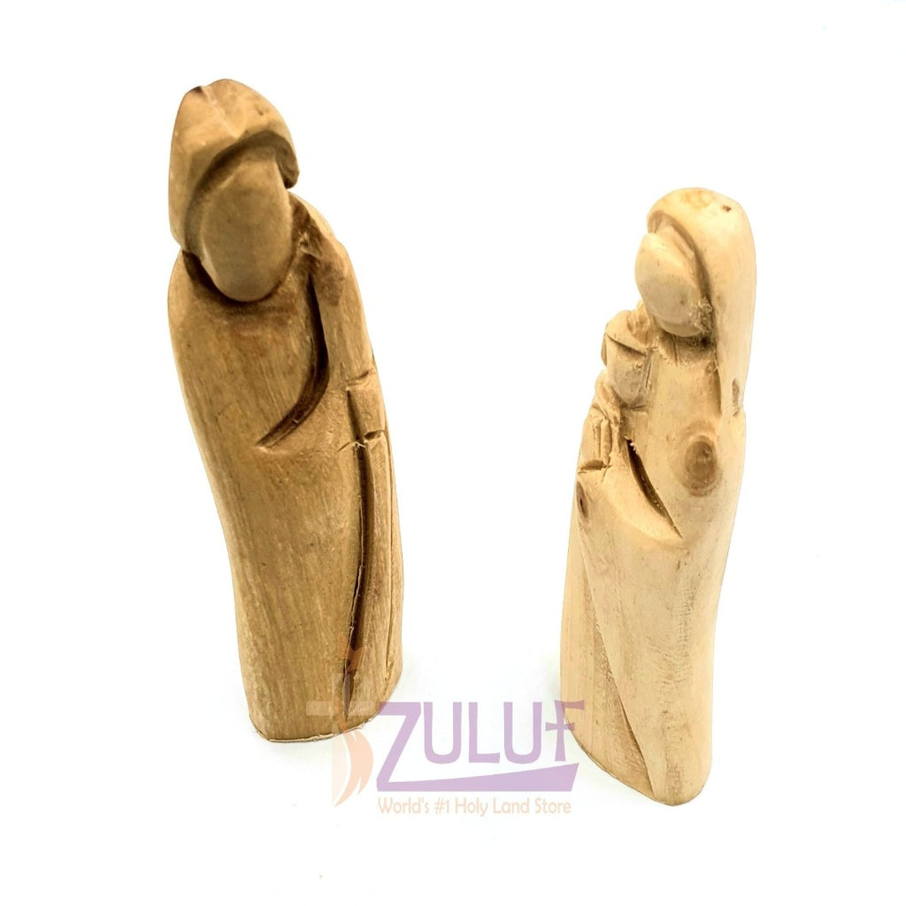 Olive wood hand made holy family 2 Pieces HOF049 - Zuluf