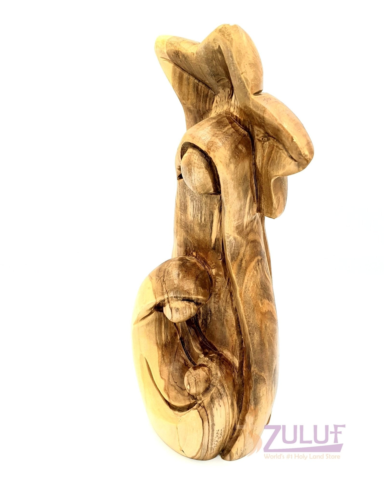 Olive wood hand made holy family statue HOF032 - Zuluf