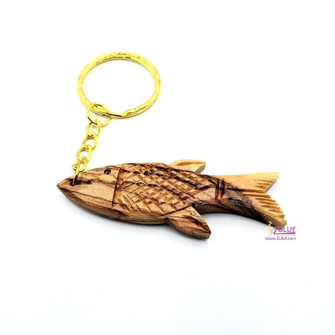Olive wood hand made key chain Zuluf Gift KC201 - Zuluf