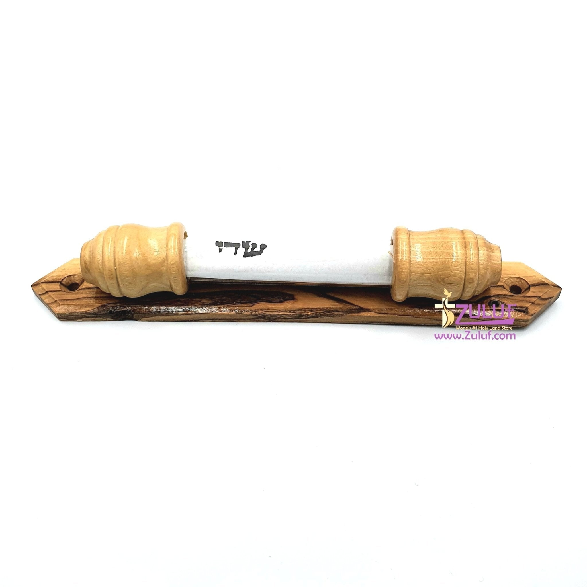 Olive wood hand made Mazuza JUD012 - Zuluf
