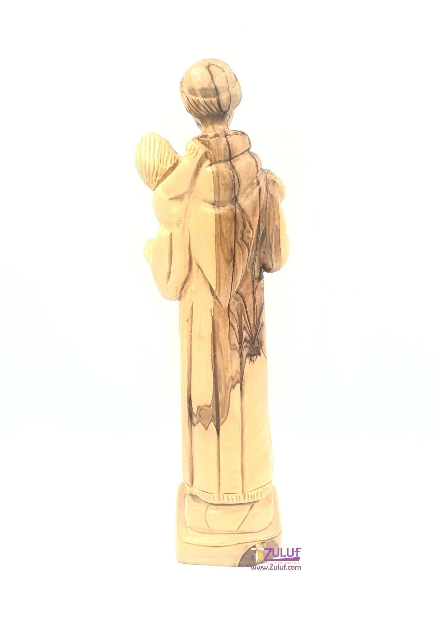 Olive wood hand made saint anthony FLG49 - Zuluf