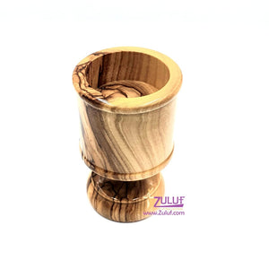 Olive wood hand made small candle holder CAH007 - Zuluf