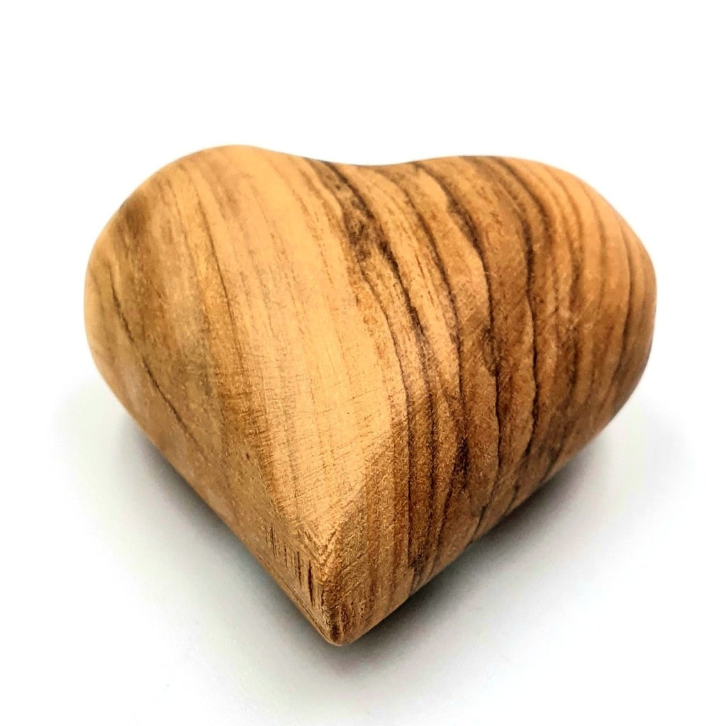 Olive wood hand made small heart HLG055 - Zuluf