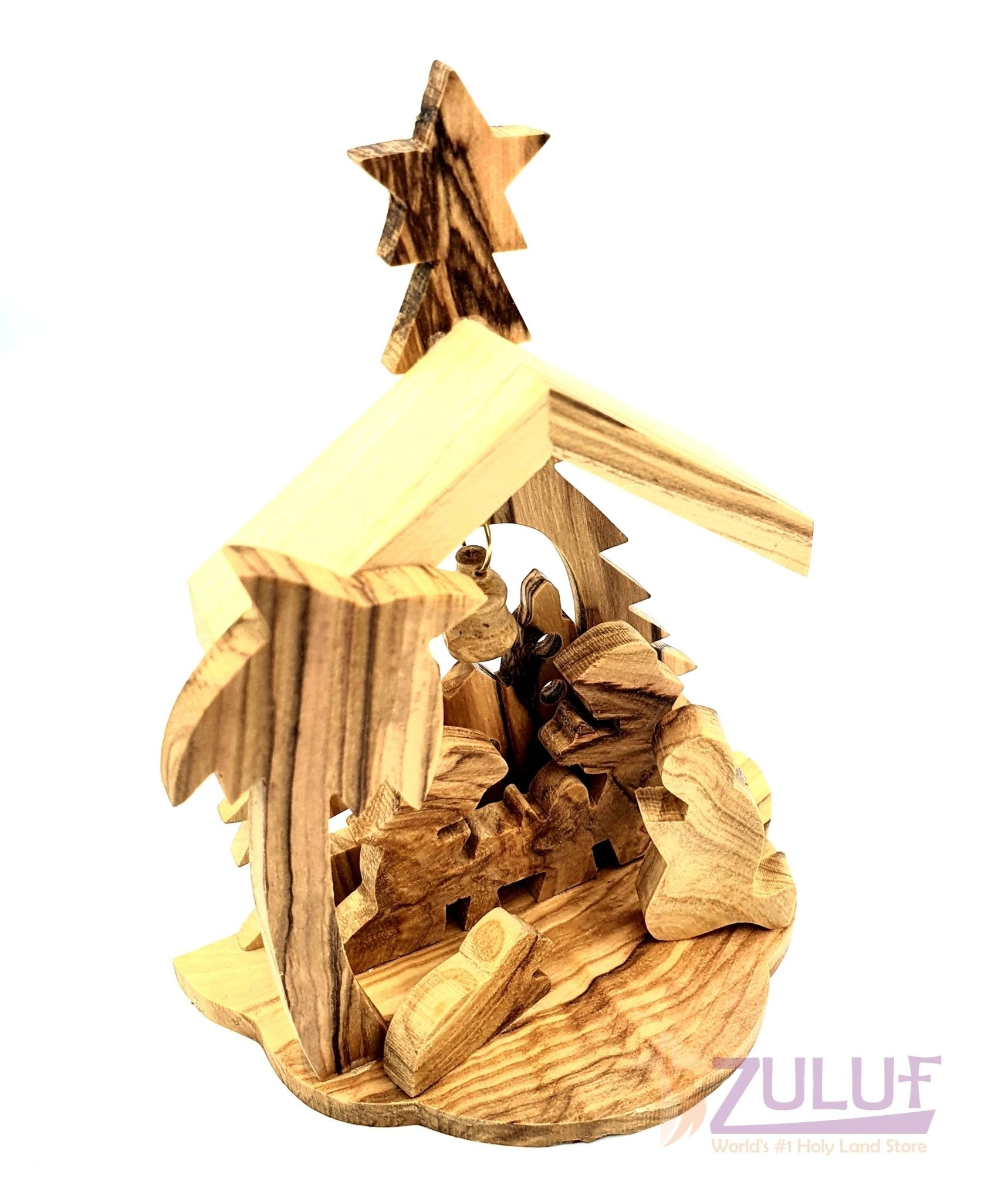 Olive wood hand Made Tree Christmas Gift NAT020 - Zuluf