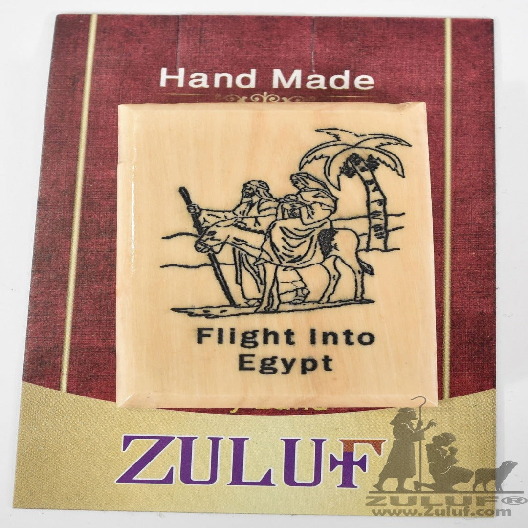 Olive Wood Magnet Joseph Mary and Jesus Zuluf Olive Wood Factory - MAG021 - Zuluf