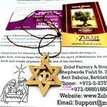 Olive Wood Messianic David Star Hand Made Bethlehem Star and Cross -PEN125 - Zuluf