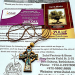 Olive Wood Mother of Pearl Cross Necklace PEN177 by Zuluf - Zuluf