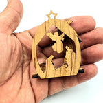 Olive Wood Nativity Ornament Christmas Decoration ORN203 - Zuluf