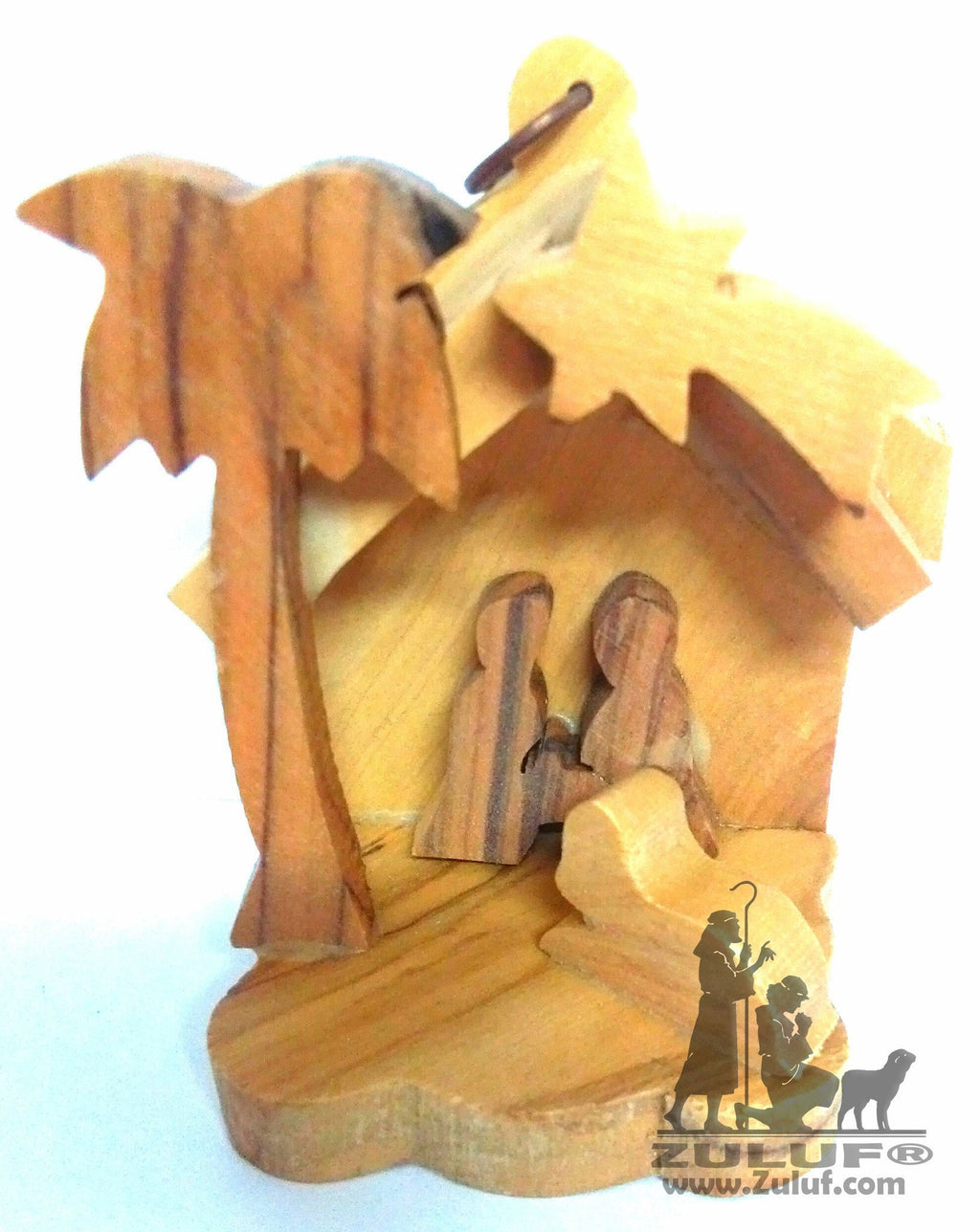 Olive Wood Nativity Ornament Holy Land Gifts - Zuluf ORN049 - Zuluf