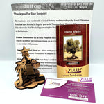 Olive wood Nativity Ornament Tree Shape From Israel Zuluf - (ORN001) - Zuluf