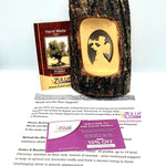 Olive Wood Natural Bark Décor Christmas Gift Angel Olive Wood Product with Zuluf Certificate - Random Shape- HLG210 - Zuluf
