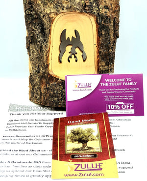 Olive Wood Natural Bark Décor Christmas Gift holy family Olive Wood Product with Zuluf Certificate - Zuluf