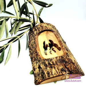 Olive Wood Natural Bark Décor Christmas Gift holy family Olive Wood Product Zuluf- HLG006 - Zuluf