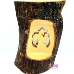 Olive Wood Natural Bark Décor Christmas Gift Praying Angel Olive Wood Product Zuluf- HLG046 - Zuluf