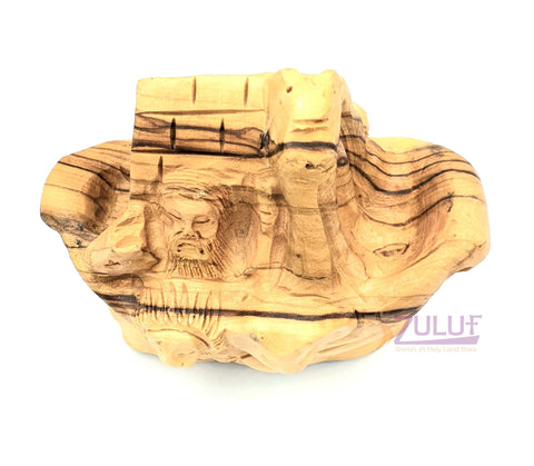 Olive wood Noah's Ark Statue Holy Land Gift ANI004 - Zuluf
