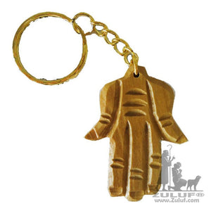 Olive Wood Olivewood Praying Hand Of Mary Key Chain Religious Gift (OW-KC-010) - Zuluf