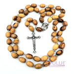Olive Wood Rosary With Box And Holy Soil from the Holy Land By Zuluf - ROS001 - Zuluf