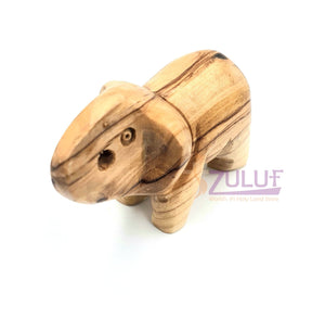 Olive Wood small elephant Bethlehem Holy Land - ANI008 - Zuluf