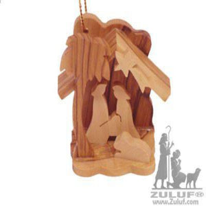 Olive Wood Small Nativity Ornament - Zuluf ORN031 - Zuluf