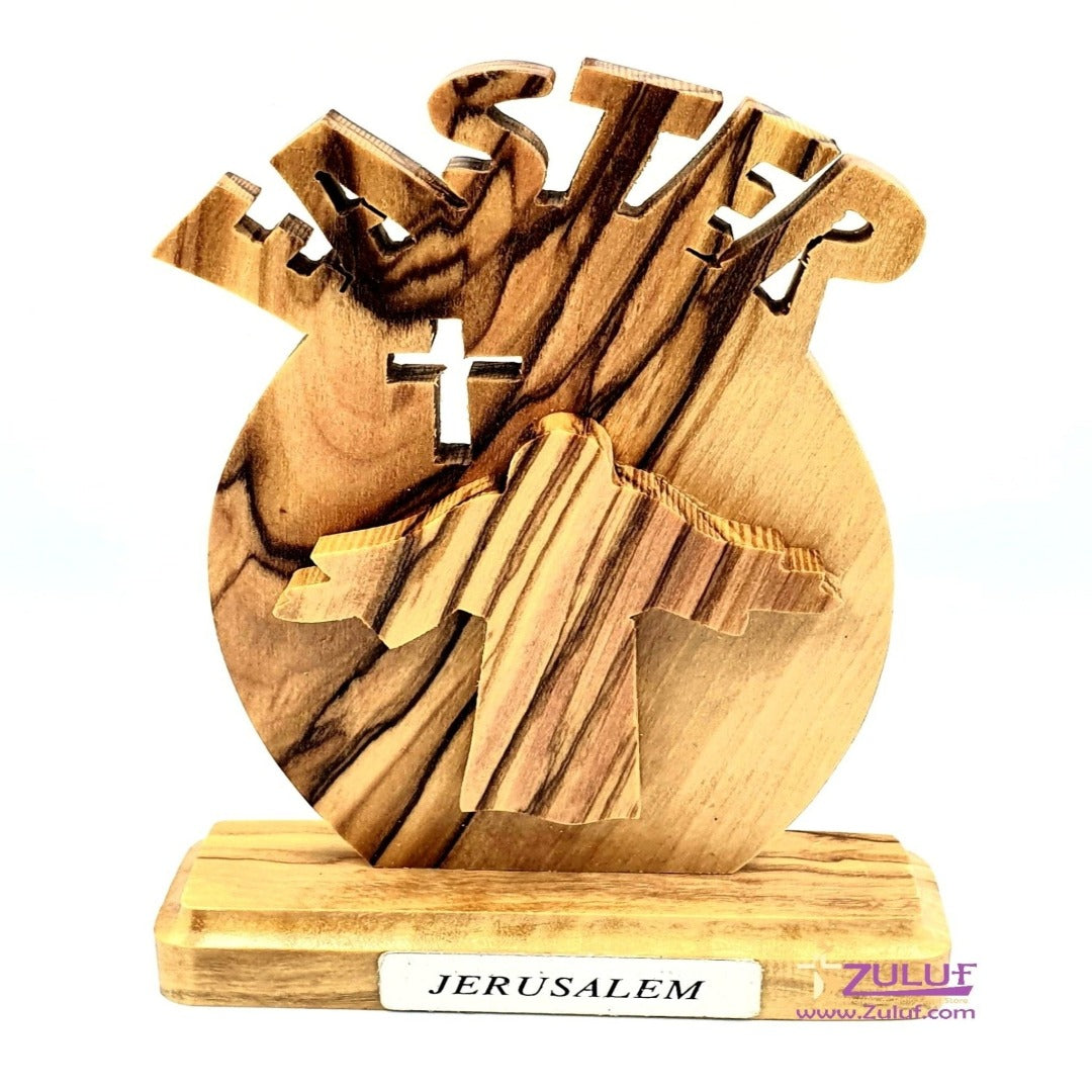 Olive Wood Tabletop Easter Gift By Zuluf® - 10X5.5X2CM/3.9X2.1X0.78in (HLG140) - Zuluf