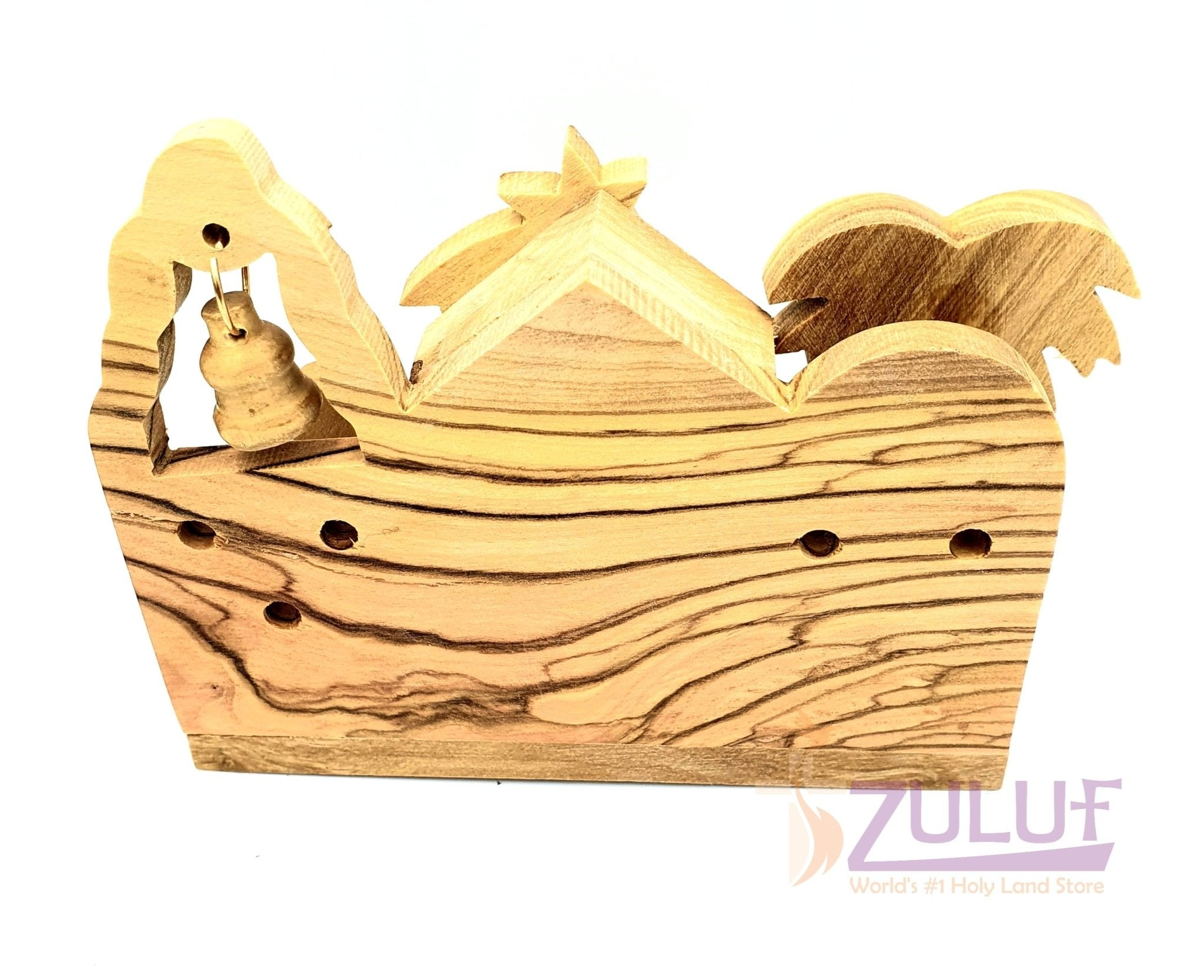 Olivewood Olive Wood Bethlehem Nativity Scene Set Holy land NAT067 - Zuluf