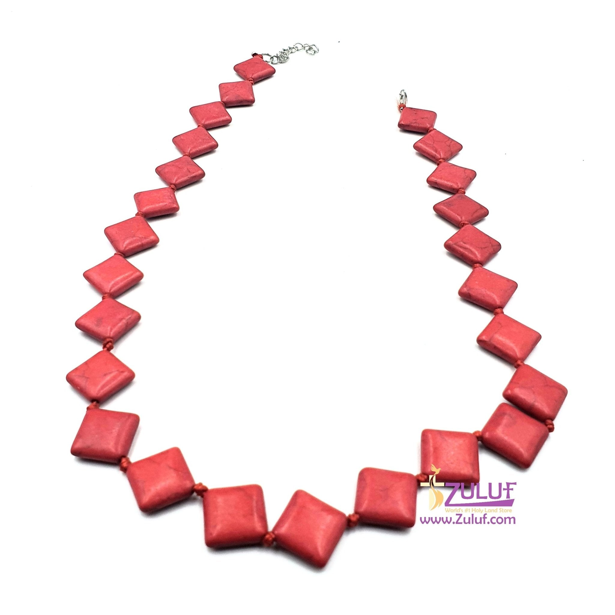 Red Stony necklace very good quality NEC001 - Zuluf