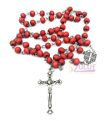 Rose Scented Rosary - Wooden Scented Praying Rosary - ROS009 - Zuluf