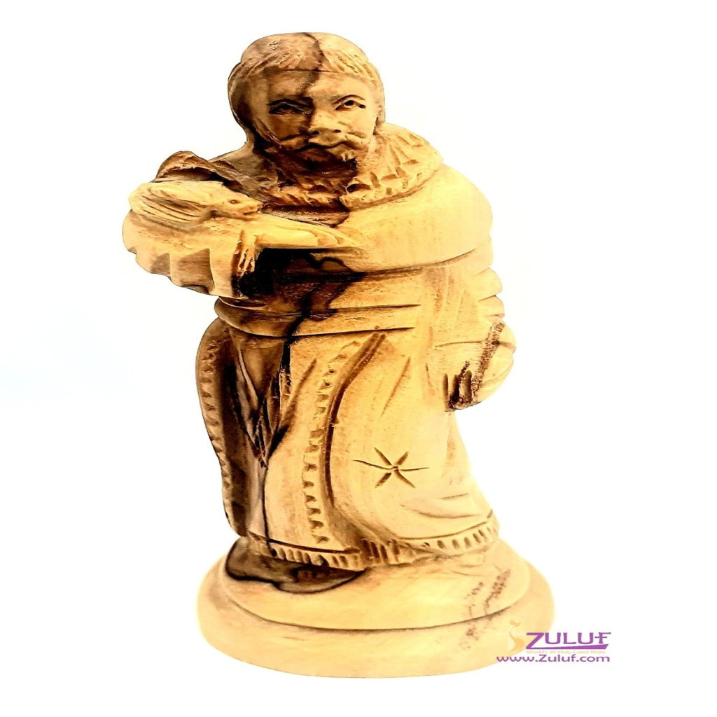Saint Francis of Assisi Olive wood hand made FLG51 - Zuluf