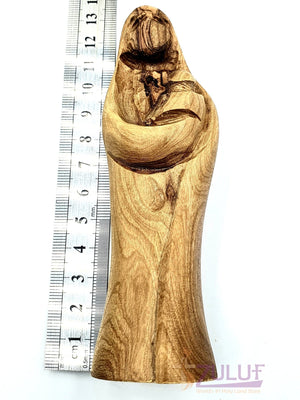 Small Abstract Design Wooden Mary Statue 12cm / 4.7 Inches - MAR020 - Zuluf