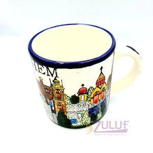 Small Holy Land Mug - Ceramic hand made cup holyland CER019 - Zuluf