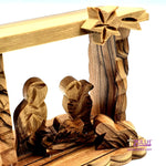 Small Olive Tree Natural Hand Made Nativity Set Holy Land Gift Zuluf - NAT030 - Zuluf