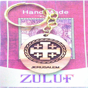 Templars Crusader Cross Laser Art Hand Carved Key Chain - Zuluf KC091 - Zuluf