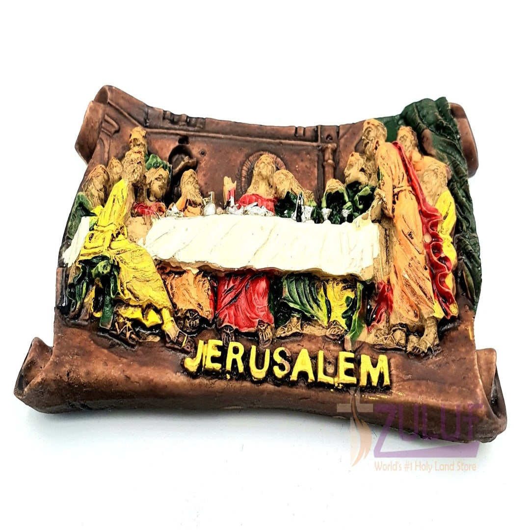 The Last Supper Jerusalem Pottery Ceramic Magnet Mag098 - Zuluf
