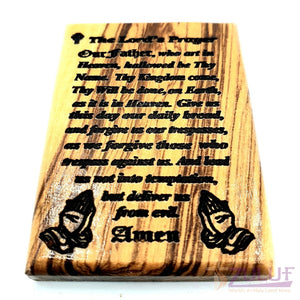 The lords prayer olive wood hand made Magnet Religious Art Olive Wood Holy Land - MAG078 - Zuluf