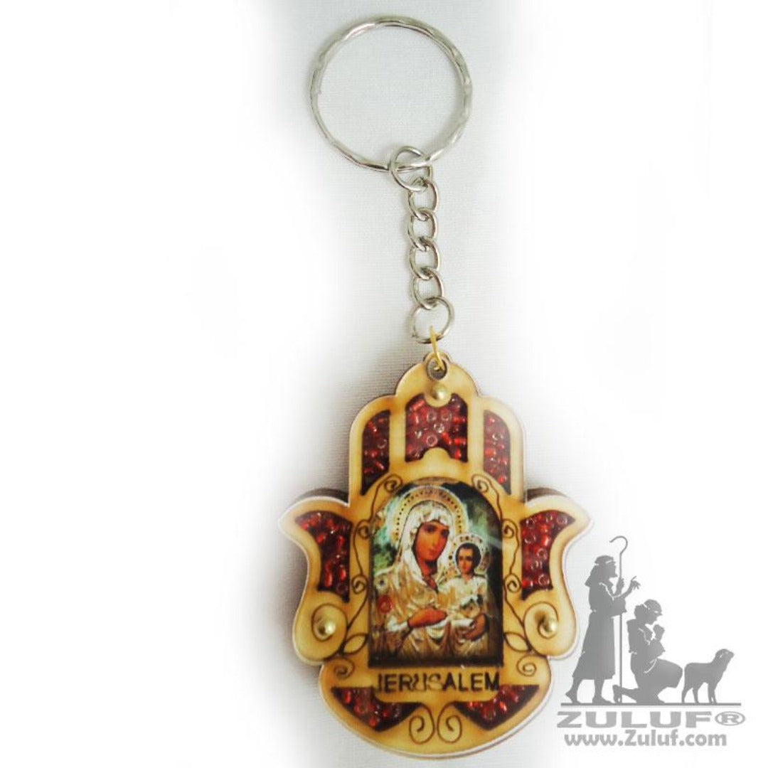 Vintage Key Chain Jerusalem Mary From Bethlehem Zuluf® - KC023 - Zuluf