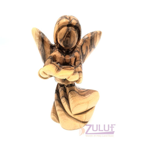 Wooden Angel Handmade Reading Bible Jerusalem Angel ANG019 - Zuluf