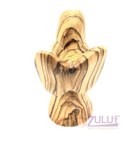 Image of Wooden Handicraft Angel Shepherds Field Olive Wood Angel ANG015 - Zuluf