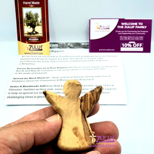 Zuluf Olive Wood Hand Crafted Figurine Gift Sculpture Statue Religious Decorative Wedding Christmas Easter Church Baptism Home Car Keyring Accessories HLG220 - Zuluf