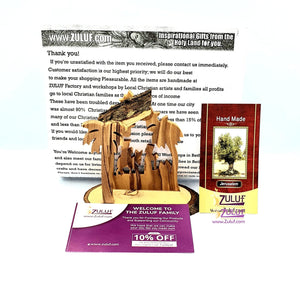 Zuluf Olive Wood Nativity Handicraft from Bethlehem Fair Trade Holiday Gift - NAT035 - Zuluf