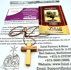 Zuluf Olive Wood Necklace Pendant - PEN110 - Zuluf