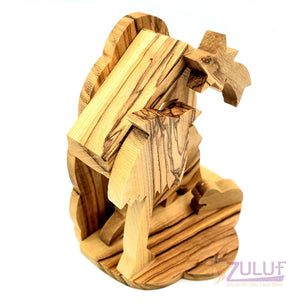 Zuluf Olivewood Olive Wood Nativity Scene Set From Jerusalem Holy land NAT066 - Zuluf