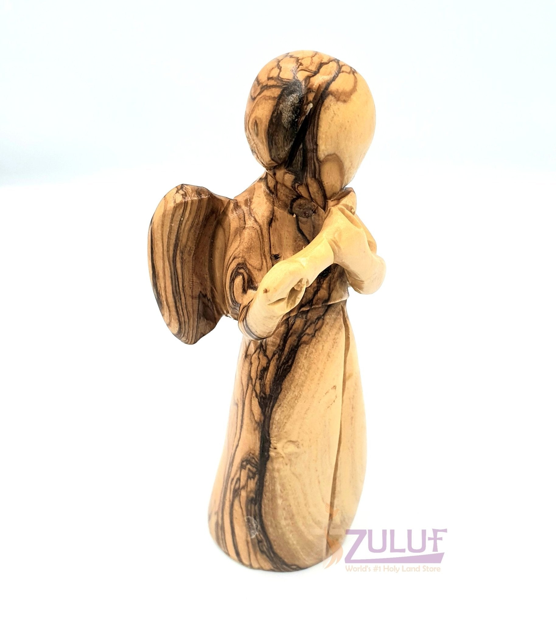Zuluf Religious Gift Shop Olive Wood Angel Wood Carvings For Sale ANG007 - Zuluf