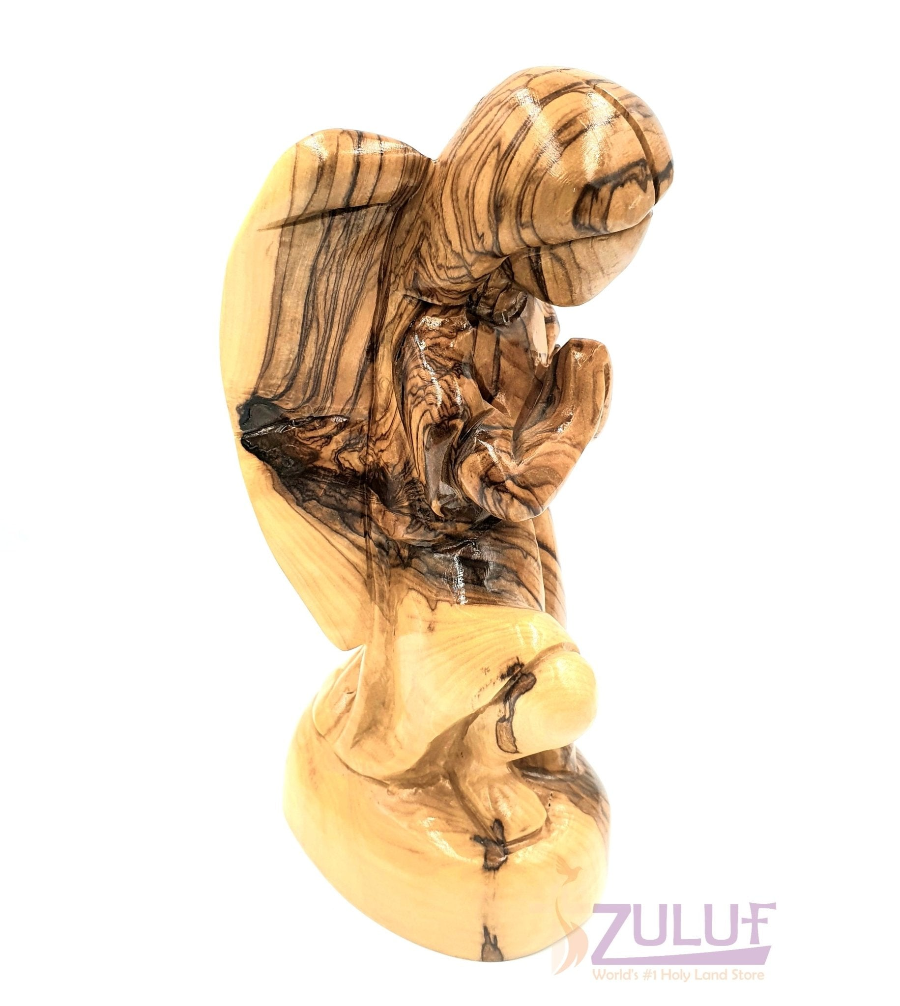 Zuluf Wooden Shop Holy Land Olive Wood Religious Gifts For Mom ANG002 - Zuluf